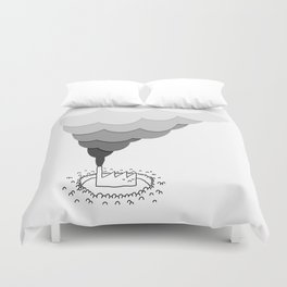 The Factory and the People Duvet Cover
