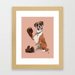 The Boxer (colour) Framed Art Print