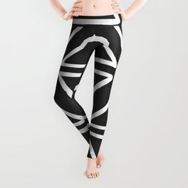 Big Triangles in Black and White Leggings