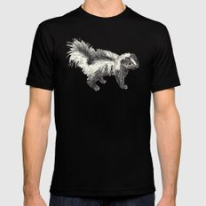 Woodland Creatures - Skunk Mens Fitted Tee Black LARGE