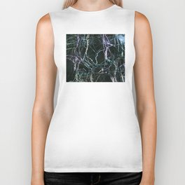 Black Marble With Colored Veins Biker Tank
