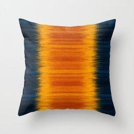 N249 - Orange Blue Oriental Vintage Boho Moroccan Style Throw Pillow