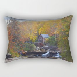Glade Creek Mill in Autumn Rectangular Pillow