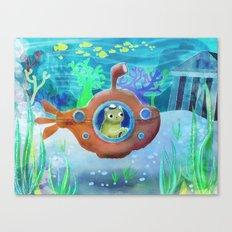 Submarine Bear Canvas Print