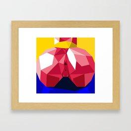 Yellow Ass Blue Framed Art Print