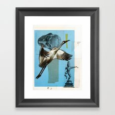In nature there's no tragedy Framed Art Print