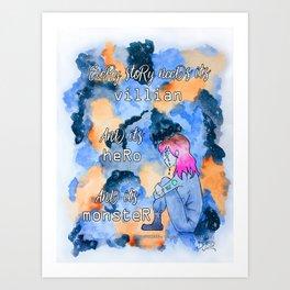 Obidio Villian Hero Monster Art Print