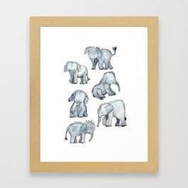 Little Elephants Framed Art Print