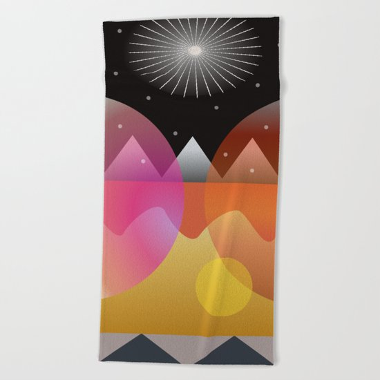 Solar Flares Beach Towel