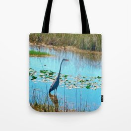 Blue Heron in the Glades Tote Bag