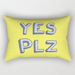 Yes PLZ Rectangular Pillow