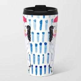 SANTA STAFFORDSHIRE DOGS Travel Mug