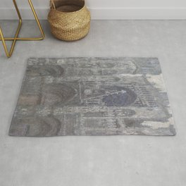 The Cathedral in Rouen. The portal, Grey Weather Rug