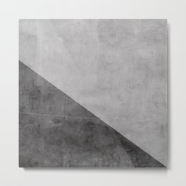 Concrete with black triangle Metal Print