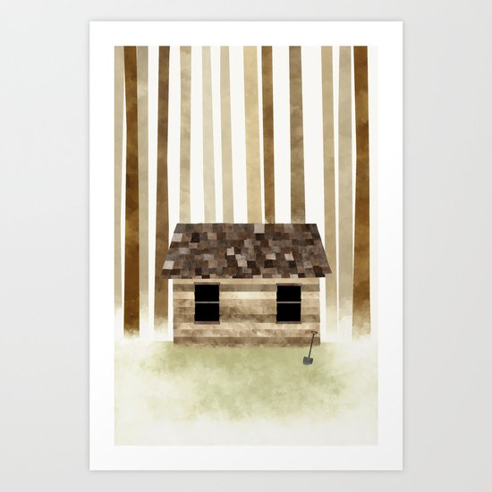 Lost to the Trees Art Print
