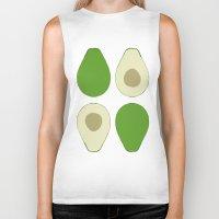 avocado Biker Tanks featuring Avocado by Silja Rouvinen