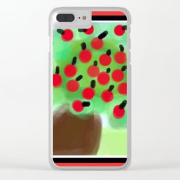 Red Apple Tree in a Breeze Clear iPhone Case