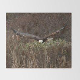 Skimming the reeds Throw Blanket