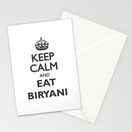Eat Biryani Stationery Cards