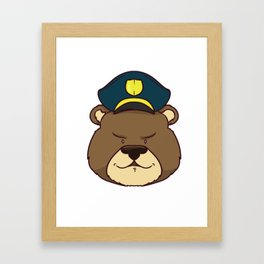 police policeman officer gift security guard law Framed Art Print
