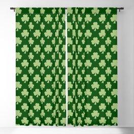 Shamrock Clover Polka dots St. Patrick's Day green pattern Blackout Curtain