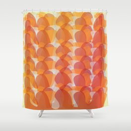 The Jelly Wave Collection Shower Curtain
