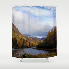 Matanuska River Alaska Shower Curtain