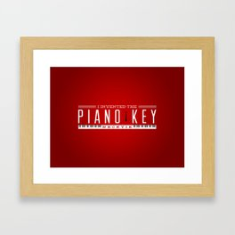 Piano Key Neck Tie Framed Art Print