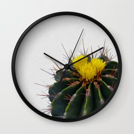 Cactus Flower Wall Clock