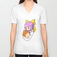 best friend V-neck T-shirts featuring best friend by razrrjunko