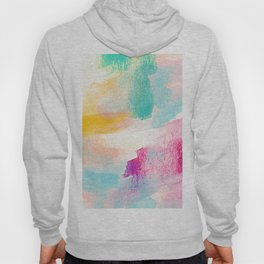 Abstract Watercolor Brush Strokes, Colorful Hoody