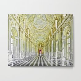 Gallery of Diana, Royal Palace of Venaria Reale, Turin Italy Portrait Painting by Jeanpaul Ferro Metal Print