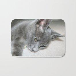 Close Up Of A Grey Kitten Bath Mat