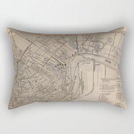 Vintage Map of New Orleans Louisiana (1902) Rectangular Pillow