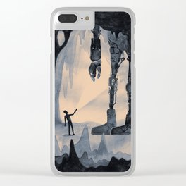 Cave Robot Clear iPhone Case