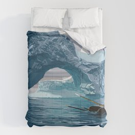 Narwhales ans icebergs Comforters