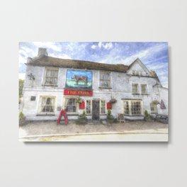 The Bull Pub Theydon Bois Watercolour Metal Print