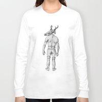 antler Long Sleeve T-shirts featuring Mr Antler by Tim Van Den Eynde