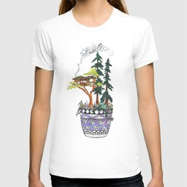 Forest Tree House - Woodland Potted Plant T-shirt