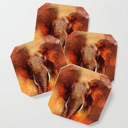 Elefante Aquarela Coaster