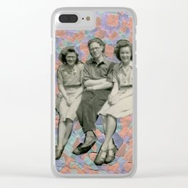 The Pastel Trio Clear iPhone Case