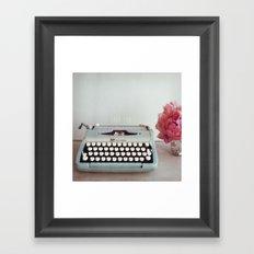 hello with love  Framed Art Print