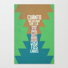 Fuente de las Amapolas Canvas Print