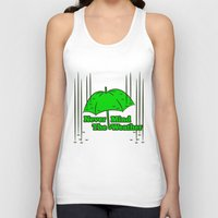 umbrella Tank Tops featuring Umbrella by mailboxdisco