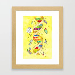 DNA Birthday greeting card by Nicole Janes Framed Art Print
