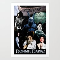 donnie darko Art Prints featuring donnie darko by American Artist