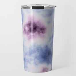 blue purple tie dye Travel Mug