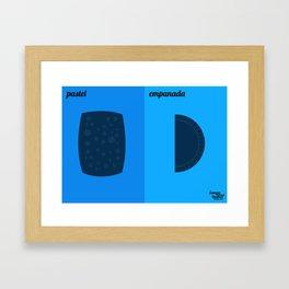 Pastel x Empanada Framed Art Print