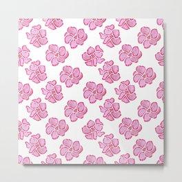 Adenium flower pattern, very feminine Metal Print