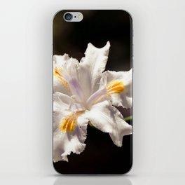 White Iris 2 iPhone Skin